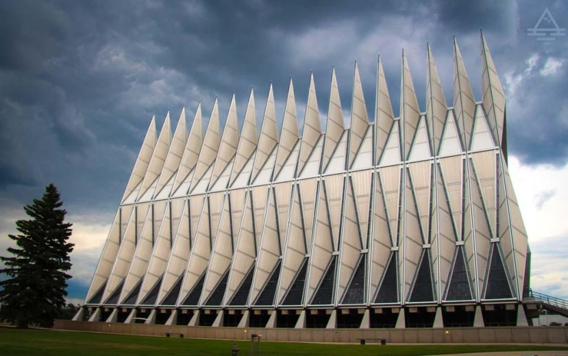 The U.S. Air Force Academy in Colorado Springs