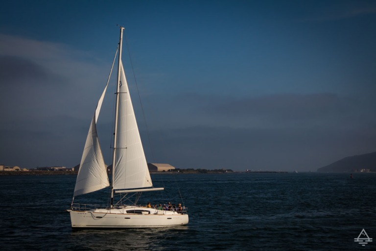 Sailboat in San Diego Bay